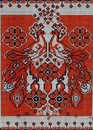 Схема вишивки хрестом